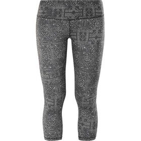 Prana Pillar Printed Pantalones cortos Mujer, black mosaic